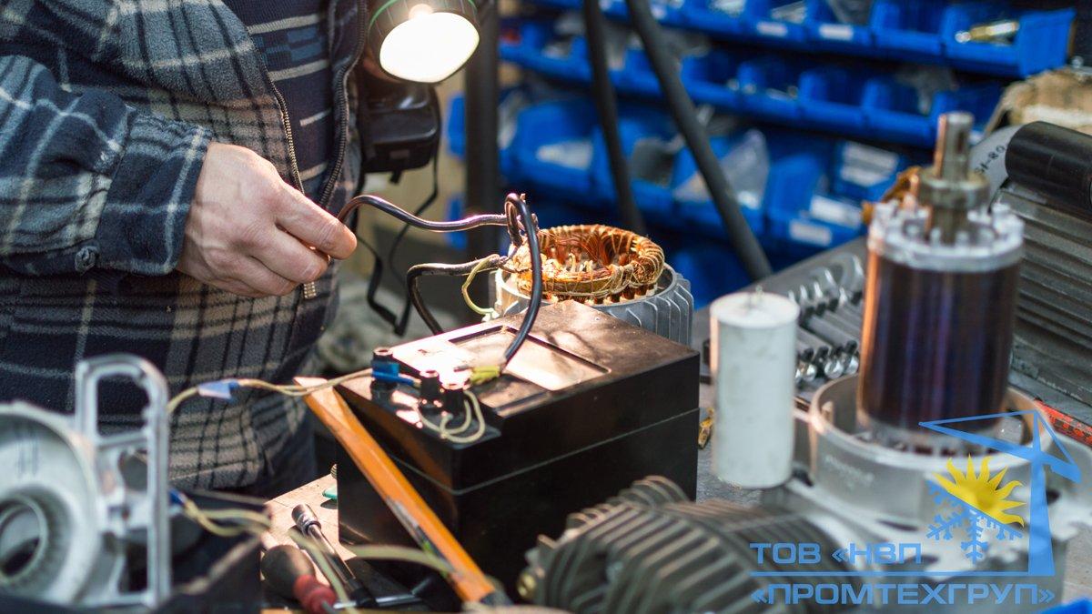 ремонт электродвигателей перемотка статора Киев