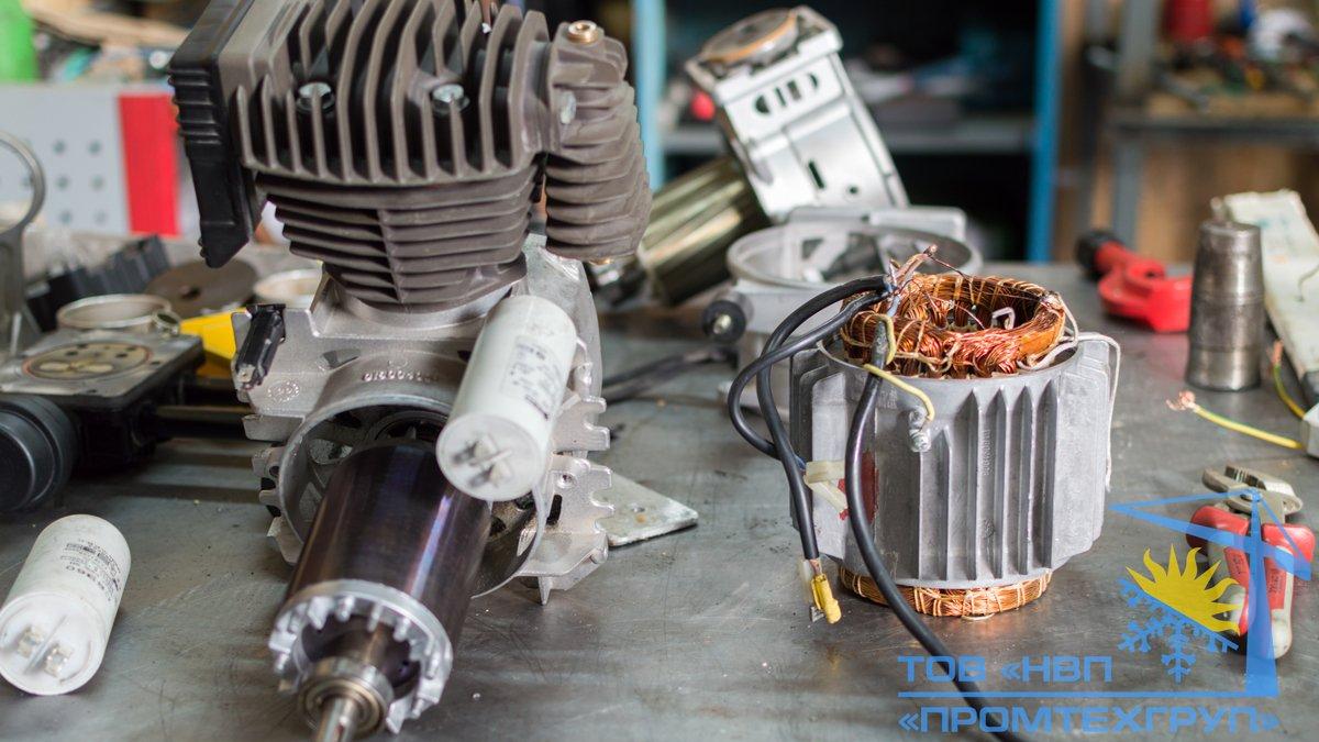 ремонт перемотка статора воздушного компрессора Киев