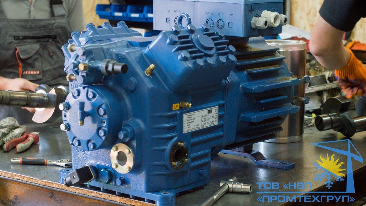 ремонт поршневого холодильного компрессора BOCK HGX4/650-4 Киев