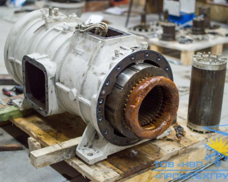 разборка диагностика ремонт винтового компрессора Daikin ZHC5WLG5YE
