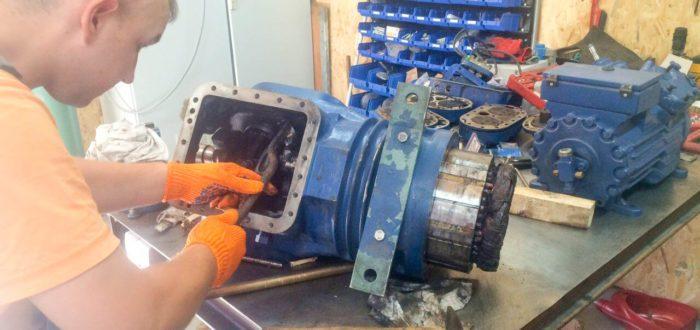 ремонт поршневого холодильного компрессора Bitzer 6F-40