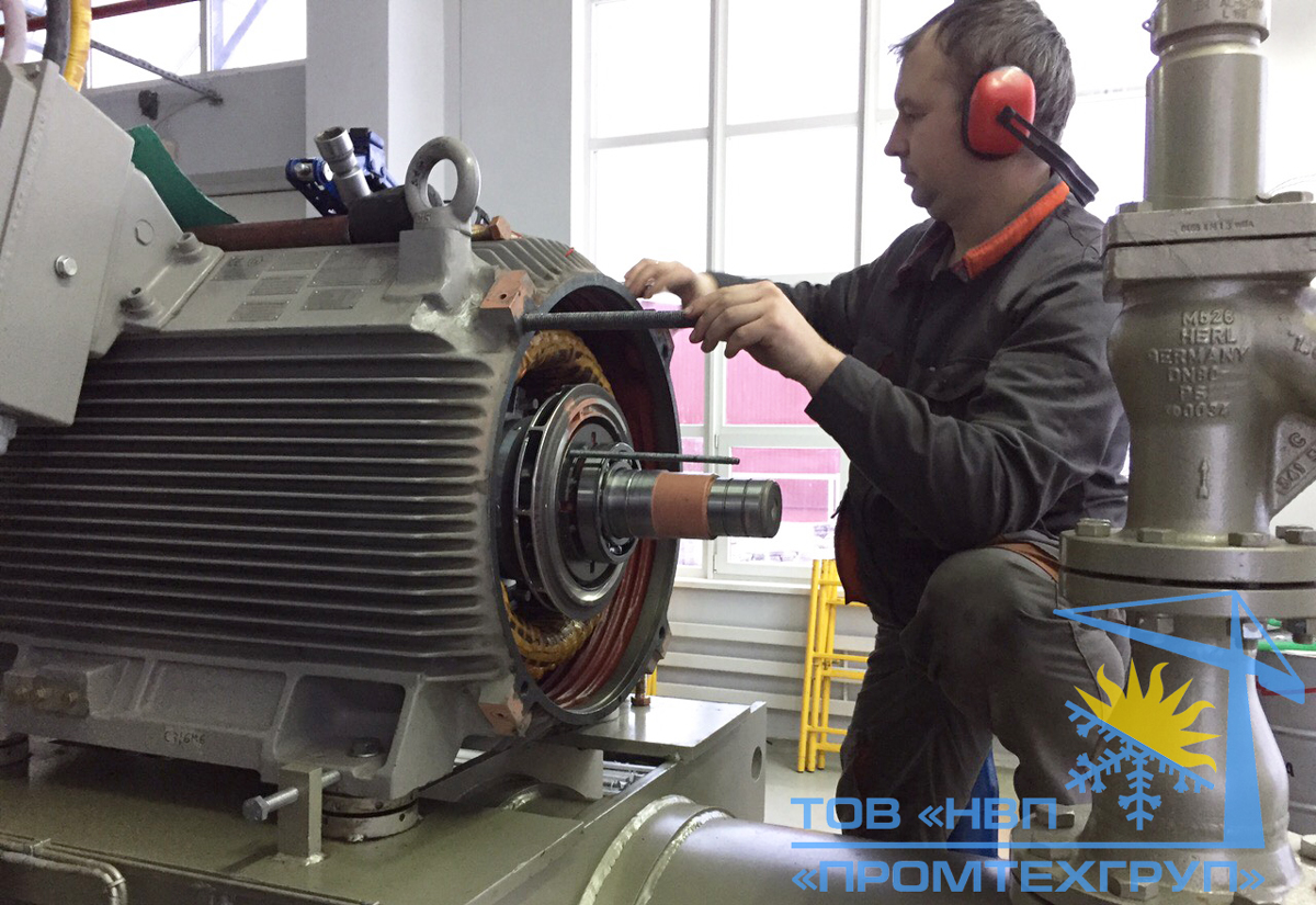 ремонт двигателя компрессора Mycom Киев
