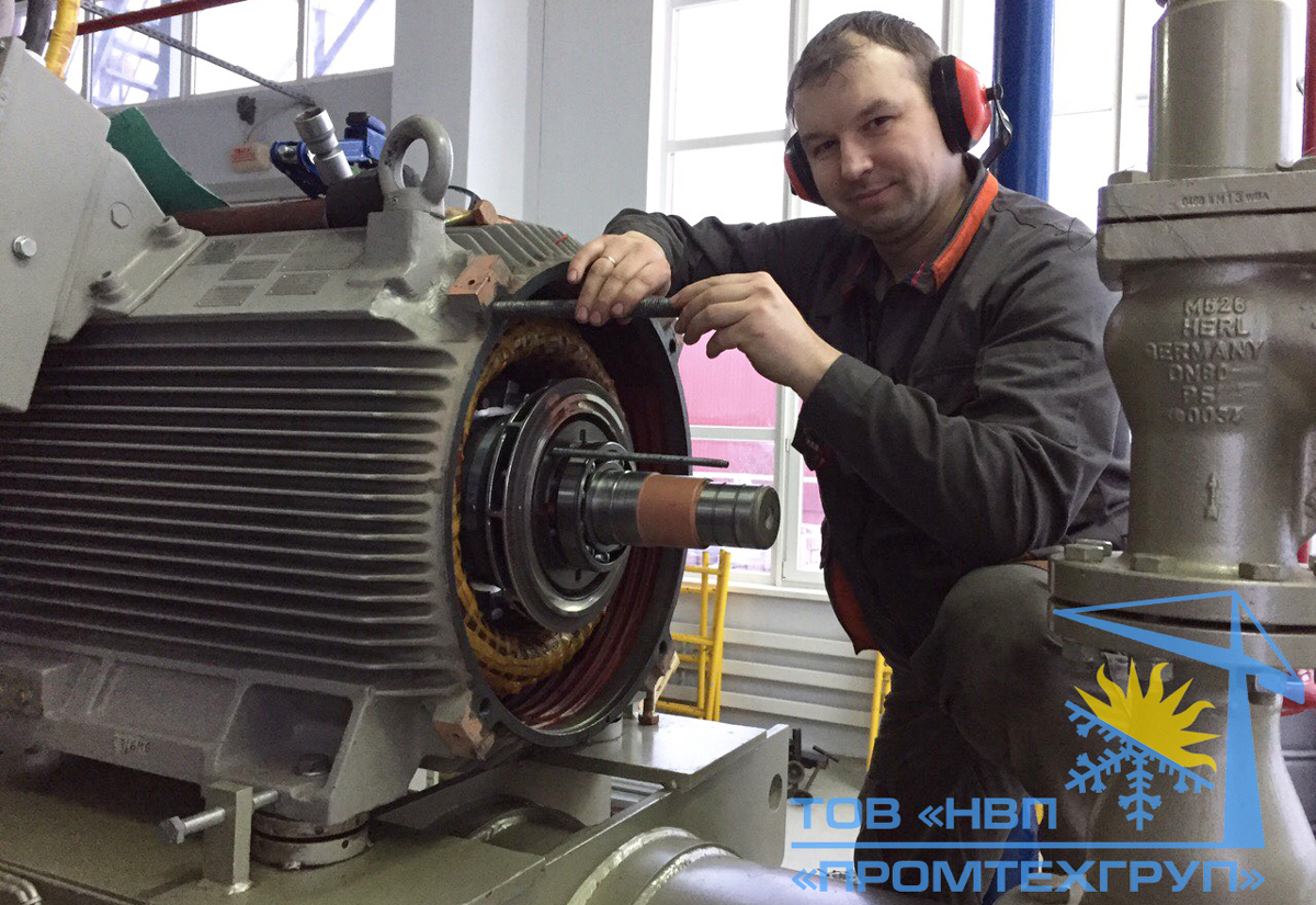 ремонт двигателя компрессора Mycom Mayekawa Украина