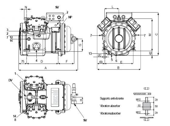 чертеж-холодильный-компрессор-FRASCOLD-S7-39-Y