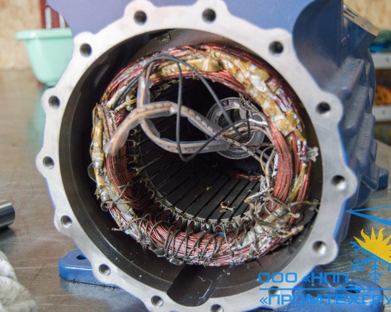 сгоревший электродвигатель компрессора Bock HGX34e/380-4 Киев