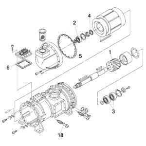 винтовой компрессор Daikin ZHC5WLG5YE чертёж запчастей