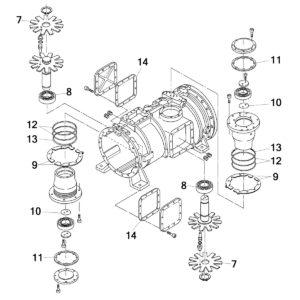 винтовой компрессор Daikin ZHC5WLG5YE схема