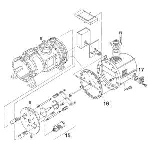 винтовой компрессор Daikin ZHC5WLG5YE чертёж деталей