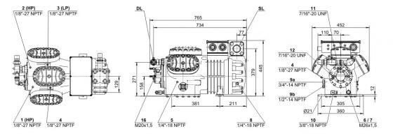 холодильный компрессор Bitzer 6G-30.2Y