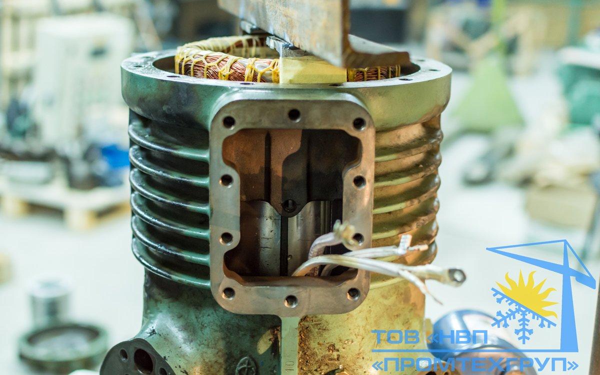 ремонт перемотка статора электродвигателя компрессора BITZER Киеев