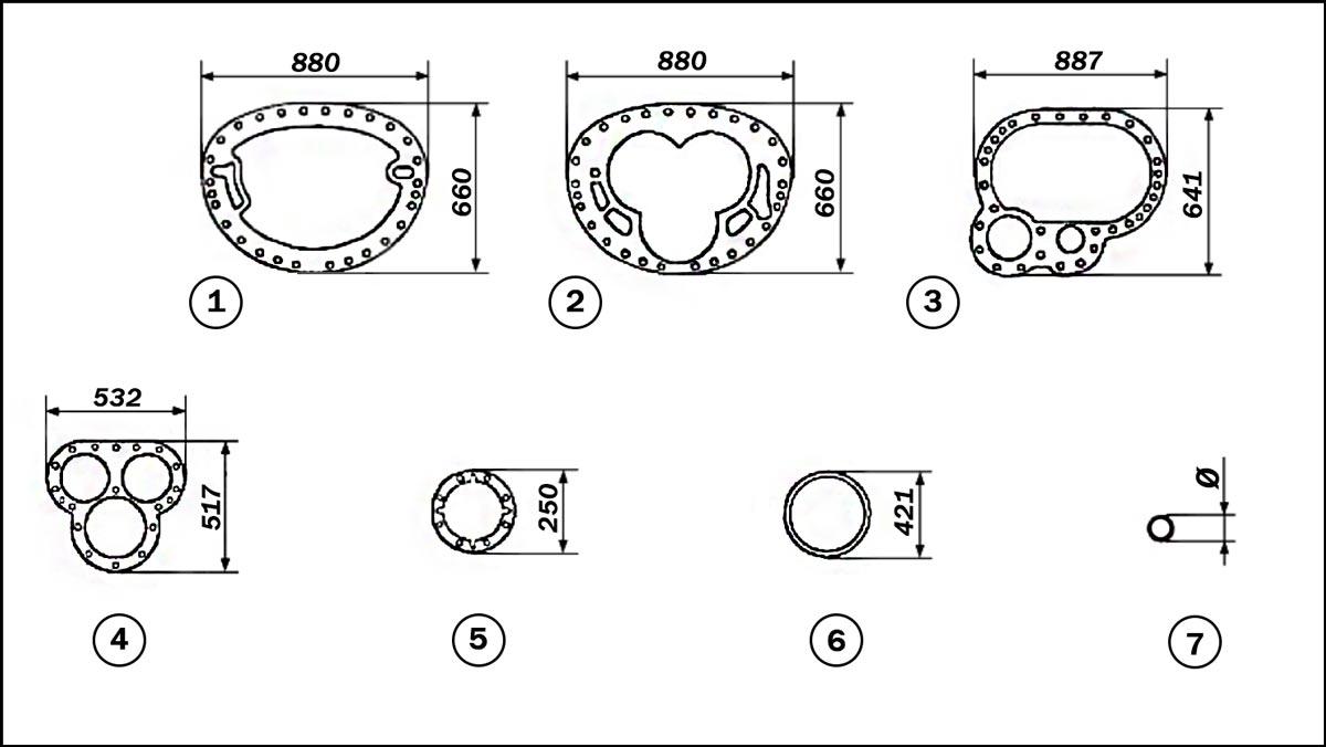 комплект уплотнительных прокладок винтового компрессора Mycom 320 VLD
