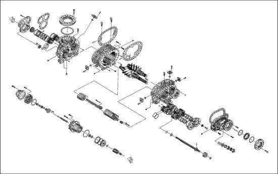 схема чертеж винтового компрессора mycom 320 VLD