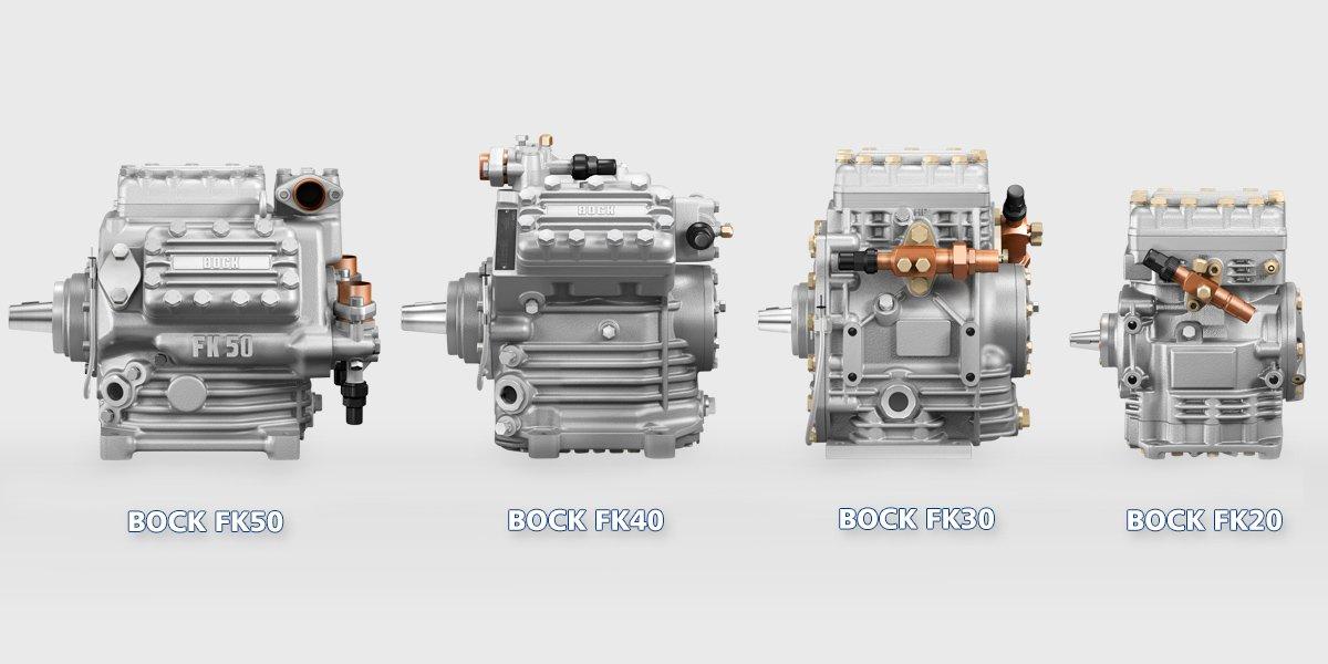 Модельный ряд холодильных авто компрессоров BOCK FK20 FK30 FK40 FK50